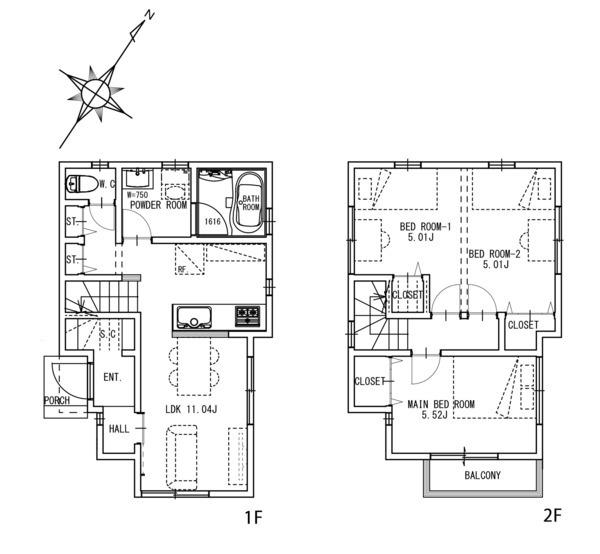 建物プラン例:建物面積67.387m2