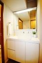 シャワー水栓付洗面化粧台