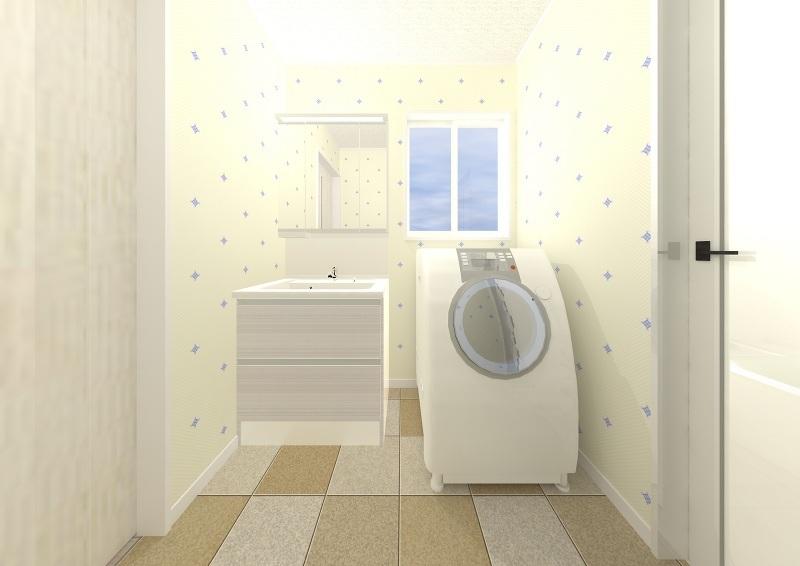 洗面室完成予定パース