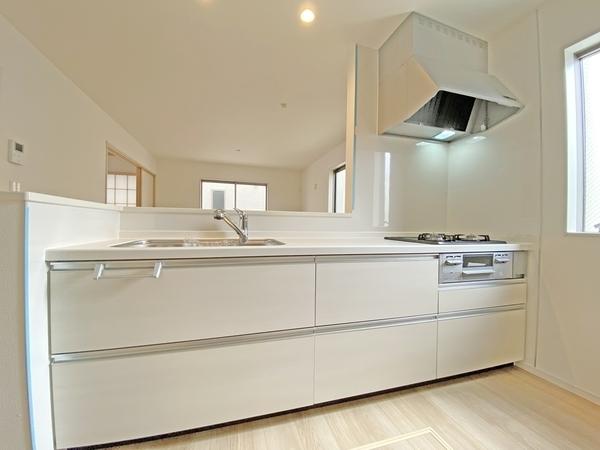 一体型浄水器付システムキッチン。