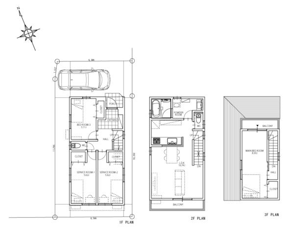 建物プラン例:建物面積98.130m2