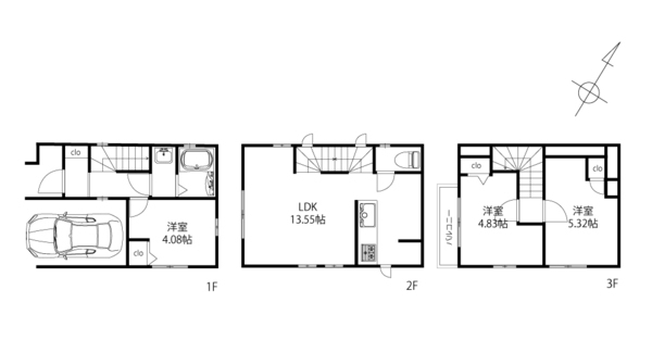 建物プラン例:建物面積72.84m2