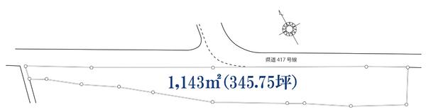 前面道路の接道面119m!