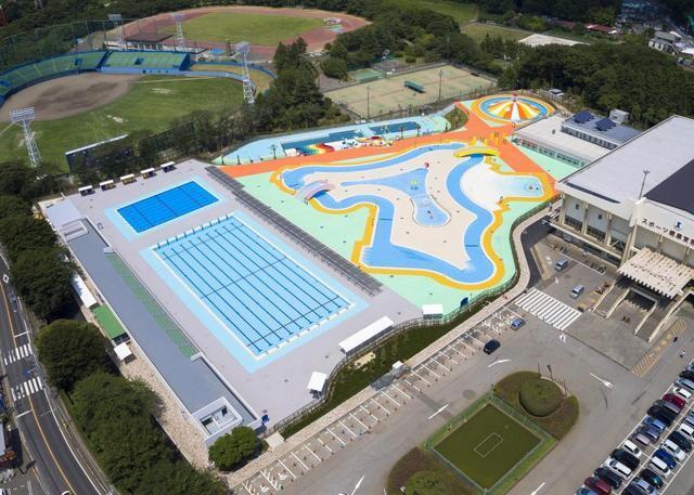 船橋市運動公園プール(580m) 580m
