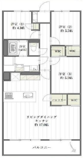 専有面積:76.80平米、 バルコニー面積:8.40平米、 3LDK+バルコニー、 新規内装リフォーム済みの為、すぐにお住まいになれます。