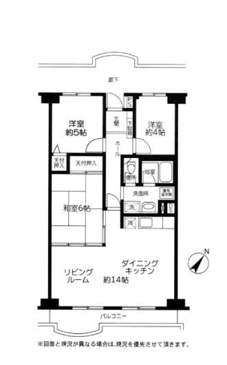 専有面積:70.76平米、 バルコニー面積:7.45平米、 3LDK+バルコニー、 新規内装リノベーション済みの為、すぐにお住まいになれます。