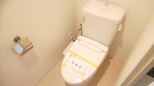 温水洗浄トイレ完備です。