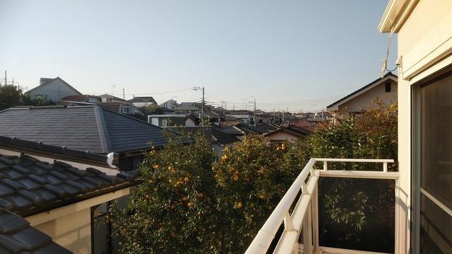 バルコニーからの眺望写真です。