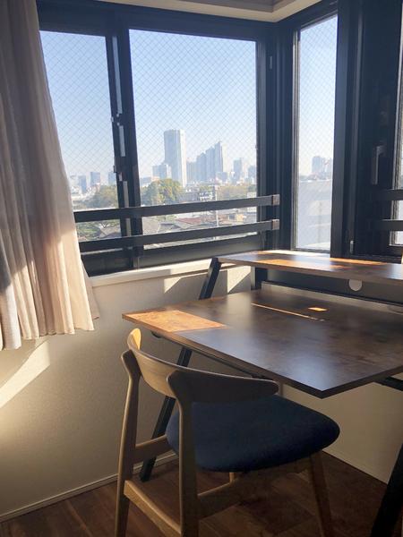 寝室からの眺望は朝もきれいです!