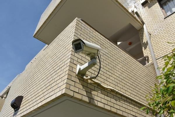 防犯カメラ設置されています。