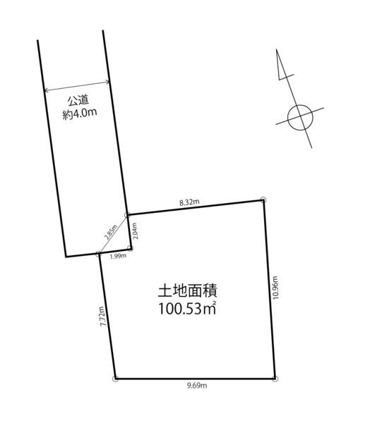区画図 さがみ野駅徒歩13分。