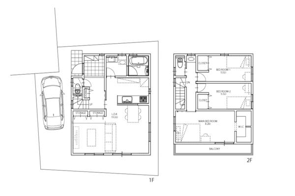 建物プラン例:建物面積96.88m2