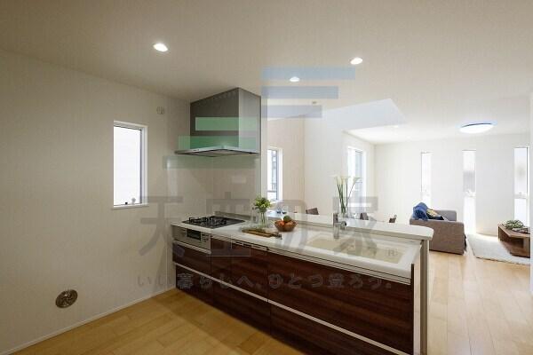 対面式キッチンですので、お子様の様子を見守りながら家事ができます!